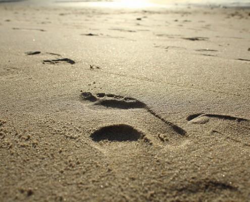In den Fußstapfen Jesu unterwegs